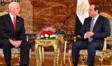 السيسي أكد لبنس موقف مصر الثابت من القضية الفلسطينية وحقوق الفلسطينيين