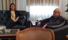 سرحان بحث مع لاسن في تفعيل التعاون القضائي بين لبنان والاتحاد الأوروبي