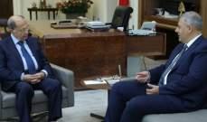 الرئيس عون استقبل رئيس الهيئة العليا للتأديب القاضي مروان عبود