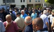 اعتصام امام بلدية صيدا للمطالبة بتحسين التغذية بالكهرباء