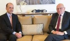 سلام استقبل السفير الهولندي