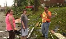 مقتل ثلاثة أشخاص إثر إعصار ضرب جنوب غرب ولاية ميزوري