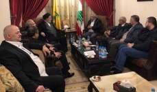السيد إبراهيم أمين السيد بحث مع سعد المواضيع السياسية في لبنان