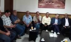 البزري التقى وفد اللجنة الشعبية لمخيم عين الحلوة