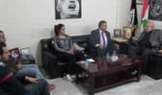 حمدان استقبل وفدا من أعضاء المؤتمر الناصري العام