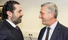 الحريري التقى ببروكسل غراندي ووزيري الخارجية السعودي والكويتي ومسؤولين