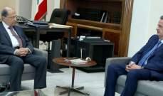 الرئيس عون عرض مع رياض سلامة للأوضاع النقدية في لبنان وعمل المصرف المركزي