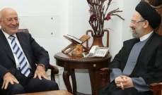 العريضي التقى فضل الله: وحدة الصف تمكن اللبنانيين من مواجهة المخاطر الكثيرة