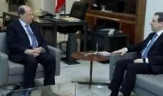 الرئيس عون استقبل أبو فاعور وعرض معه شؤون وزارة الصناعة