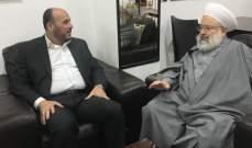 """حمود بحث مع عبد الهادي مسألة أوضاع وأمن المخيمات الفلسطينية و""""صفقة القرن"""""""