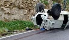 النشرة:ناقلة جنود تابعة لليونيفيل تدهورت بوادي الحجير ما تسبب بوقوع جرحى