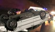 جريح بانقلاب سيارة في بيت الفقس ـ الضنية