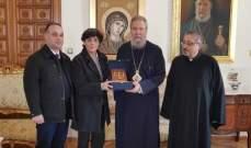 الأمينة العامة لمجلس كنائس الشرق الأوسط التقت رئيس أساقفة قبرص