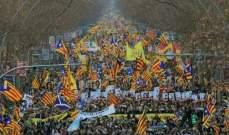 تظاهرة ضخمة في برشلونة احتجاجا على محاكمة الإنفصاليين