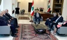 الرئيس عون استقبل وفدا من المجلس الأرثوذكسي اللبناني برئاسة الأبيض