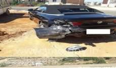 جريح نتيجة تصادم بين مركبتين على أوتوستراد القلمون المسلك الغربي