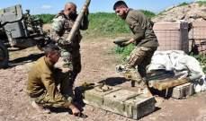 """الجيش السوري دمر مستودع أسلحة لـ""""النصرة وقضى على عدد منهم بريفي إدلب وحماة"""