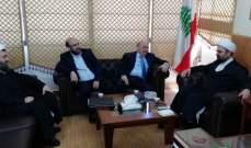احمد قبلان استقبل مصطفى الحسيني وجرى البحث في الأوضاع العامة