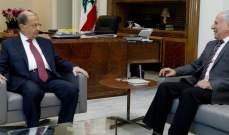 الرئيس عون استقبل مدير المركز الدولي لعلوم الانسان في جبيل
