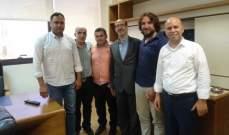 الموسوي التقى وفدا من لجنة الاساتذة المتعاقدين بالتعليم المهني والتقني