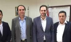 وفد من حركة امل زار مدير عام مؤسسة مياه لبنان الجنوبي