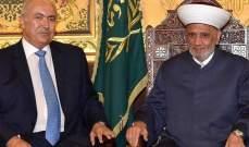 مخزومي التقى دريان: نرفض المساس باتفاق الطائف الذي كلف اللبنانيين دماً