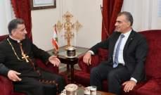 الصايغ التقى الراعي: حريصون على تحصين لبنان القوي والرئاسة القوية