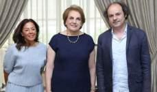 """اللبنانية الاولى استقبلت الفنان ملتقى ونادين زكور في زيارة شكر على رعايتها لمعرض """"شمس"""""""