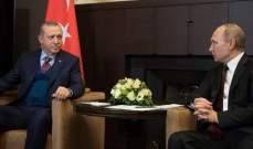 بوتين يهنئ أردوغان بنجاح الانتخابات المحلية ويبحثان الأزمة السورية