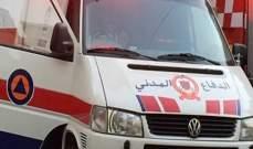 الدفاع المدني: جريح إثر تدهور سيارة في الزعيتره - كسروان