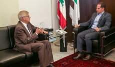 الجميل عرض الأوضاع العامة في لبنان والمنطقة مع زاسبيكين