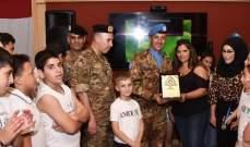 الكتيبة الإيطالية استضافت اولاد شهداء الجيش وقوى الأمن الداخلي في شمع