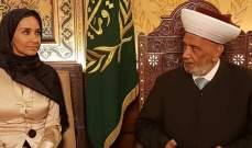المفتي دريان بحث مع سفيرة سويسرا في لبنان تعزيز العلاقات بين البلدين