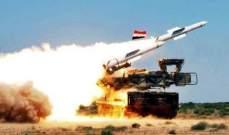 صواريخ سورية أُطلقت السبت الماضي مرت فوق حيفا وتل أبيب وسقطت في البحر