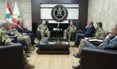 """قائد الجيش بحث مع قائد قوات """"اليونيفيل"""" الأوضاع على الحدود الجنوبية"""