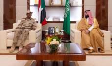 بن سلمان بحث مع نائب رئيس المجلس الانتقالي السوداني التعاون الثنائي بين البلدين