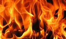إخماد حريق داخون مشغلات أجهزة التدفئة على سطح مستشفى في دورس- بعلبك