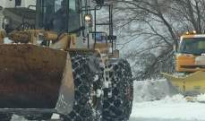 طريق ضهر البيدر وترشيش زحلة مقطوعتان بسبب تراكم الثلوج