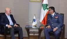 عثمان استقبل فنيانوس ورئيس الصليب الأحمر اللبناني