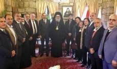 رئيس الجامعة اللبنانية فؤاد أيوب زار البطريرك اليازجي مهنئا بالاعياد