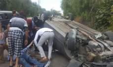نجاة مواطنة وابنها بعد تدهور سيارتهما على طريق شوكين النبطية