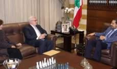 المبعوث الأميركي إلى سوريا التقى الحريري: نعمل مع شركائنا اللبنانيين من أجل الحل هناك