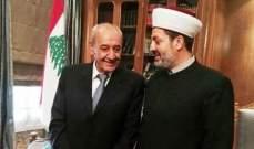 التوحيد الاسلامي : بري لعب دورا مركزيا في التواصل بين مختلف الافرقاء