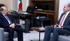 الرئيس عون التقى سليم عون وعرض معه لحاجات زحلة والبقاع