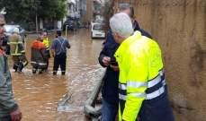 العميد خطار يتابع عمليات سحب المياه عن ضفاف مجرى نهر الفوار في أنطلياس