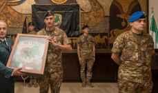 تسليم وتسلُّم في قيادة البعثة العسكرية الثنائية الإيطالية في لبنان