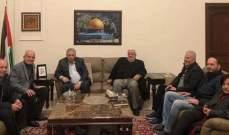 """دبور التقى وفدا قياديا من """"جبهة التحير الفلسطينية"""""""