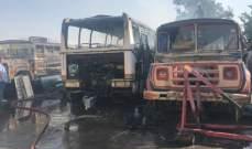 إخماد حريق 3 حافلات للنقل في زحلة و3 حرائق أعشاب في المريجات والعباسية والبربارة