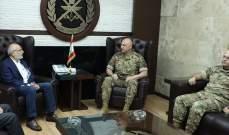 قائد الجيش بحث مع وزير التربية موضوع تأمين الامتحانات الرسمية