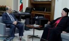 الرئيس عون استقبل رئيس اساقفة ابرشية بيروت للموارنة المطران بولس مطر
